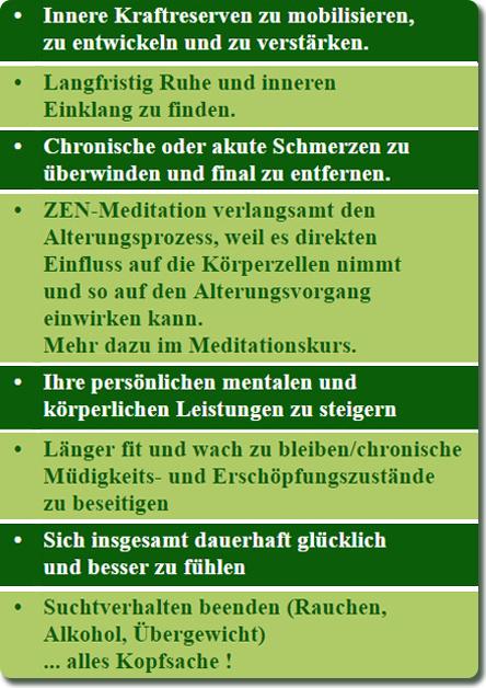 ZEN-Meditation und Mentaltraining - auch Gruppenkurse : ZEN-Meister ...